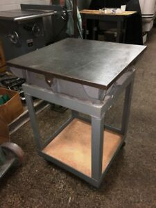 24 X 24 Cast Iron Webbed Surface Plate Layout Table With Stand