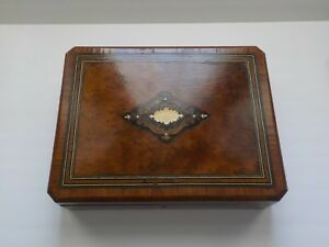 19th C French Napoleon Iii Grand Tour Marquetry Inlaid Wood Jewelry Box