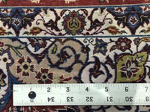 Exceptional Esfahan 1940s Antique Persian Rug Isfahan Carpet 3 4 X 4 6 Ft