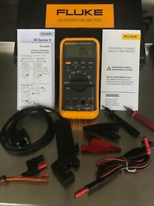 Fluke 87v Automotive Multimeter With Hard Case works Great slightly Used