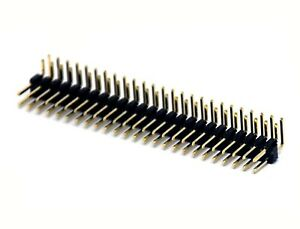 250 Male Pin Header Right Angle 90 Dual Row 2x25p 2x25 Pitch 2 54mm Rohs H 6mm