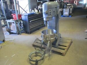 Hobart H 600 60 Qt Quart Mixer Whip Paddle Hook Bakery Restaurant Pizza 1ph