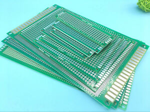Double side Prototype Pcb Stripboard Universal Printed Circuit Board 10 Size