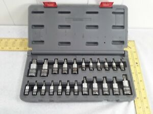 Matco Silver Eagle Tools Sbs23se 1 4 3 8 1 2 Drive Torx Bit Socket Set Of 23