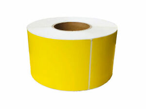 Thermal Transfer Labels 4 X 6 Yellow Color Required Ribbon 1000 rl 4 Rls cs