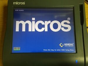 Micros Workstation 4 Lx Point Of Sale System Unit 12 1