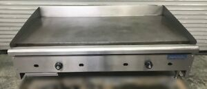48 T stat Flat Top Griddle Counter Top Grill Natural Gas Imperial 8737 Usa Nsf