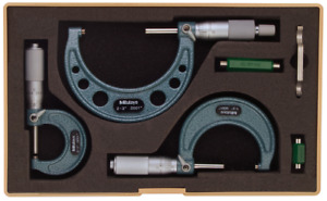 Mitutoyo 103 922 0 3 Mechanical Micrometer Set 3 Pcs 0001 Graduation
