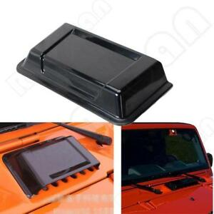 Black Abs Air Intake Hood Vent Scoop Cover Trim For Jeep Wrangler Jk Tj 98 18