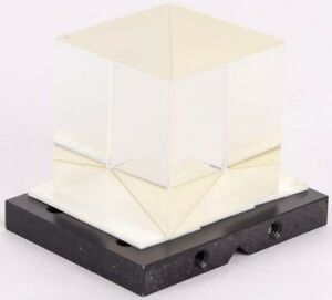 Laboratory Optical Prism Mounted 40mmx40mm Cube Beamsplitter newport Pt 1 Plate