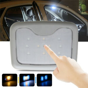 Universal Car Interior Led Roof Light Wireless Ceiling Dome Reading Lamp Gray