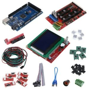 Cnc 3d Printer Kit Mega 2560 R3 ramps 1 4 Controller lcd 12864 5 X A4988 Driver