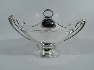 Gorham Soup Tureen Antique Victorian Covered Bowl American Coin Silver