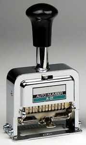 Lion Pro line Heavy duty Automatic Numbering Machine A 21 A21 12 wheel 278 New
