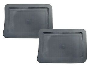 Two New Oem Gm Blue Rubber vinyl Rear Floor Mats W gm Logo For Trucks 1990 1999
