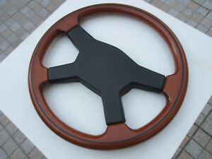 Vintage Wood Sport Rare Steering Wheel 14 Italy Raid Polished Wooden Old School