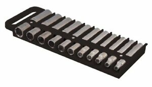 Lisle Large Magnetic 1 2 Socket Tray Black Lis 40990