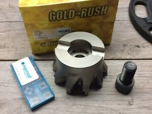 New Ingersoll Gold Rush 5m5p 40r01 4 Indexable Face Mill W 1 1 2 Inserts