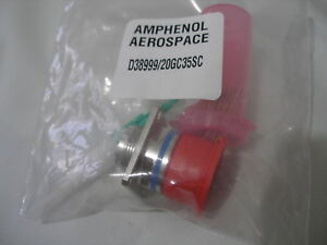 Amphenol D38999 20gc35sc Circular Mil spec Connector Plug With Contacts