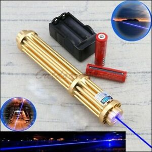 Lazer Pointer Powerful 450nm Blue Laser Pointer With 5 Cap Burn Light Cigarettes