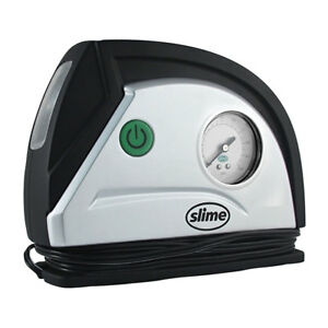 Slime 12 Volt Auto Air Compressor Tire Inflator With Dial Gauge