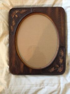 Vintage Wood Picture Photo Frame Alfred S Carved Floral Oval Window For 8 X 10