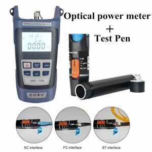 Fiber Optical Power Meter And 20 30km 30mw Visual Fault Locator Cable Tester New