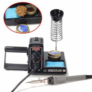 Soldering Station 60w 110v Led Display Adjustable Temerature Iron Welding Kit