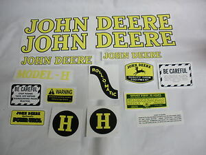 John Deere Model H 1939 Up Tractor Decal Set New Free Shipping
