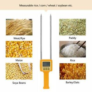 Portable Lcd Digital Grain Moisture Meter Tester For Rice Corn Wheat Gauge