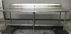 96 X 30 All Stainless Steel Work Food Prep Table Welded Construction 8752 Nsf