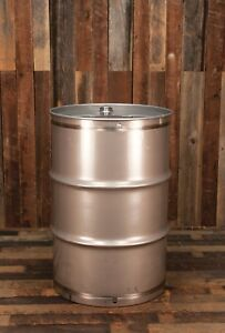 55 Gallon 316 Stainless Steel Drum Barrel Sanitary Closed Top