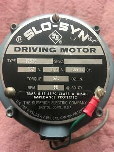 Superior Electric Slo syn Ss250 120v 50 60cy Motor