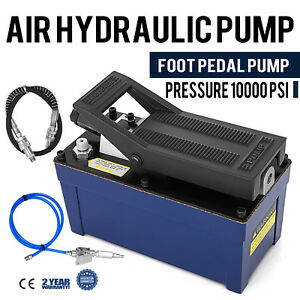 Air Powered Hydraulic Pump 10 000 Psi Foot Rubber Single Acting Foot Pedal Pump