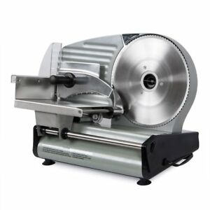 Deli Meat Slicer Electric Portable Food Prep Cutter Commercial Blade 8 7 Inch On