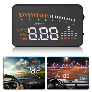 X5 3 Car Hud Projector Head Up Display Speed Warning Fuel Obd Ii Speedometer