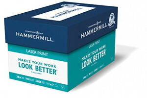 Hammermill Laser Print Paper 28 11x17 Ledger 98 Bright 2000 Sheets 4 Reamcase