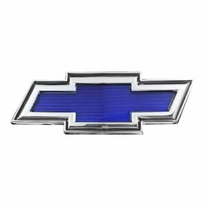 Trim Parts 9600 1969 70 Chevrolet Truck Blue Bowtie Hood Emblem Made In The Usa