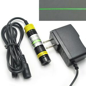 Long time 515nm 10mw Green Line Positioning Laser Diode Module Focus 12v Adapter