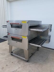 Xlt Model 3240 ts Double Stack Gas Pizza Oven 32 Belt Width