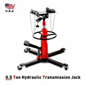1660lbs 2 Stage Hydraulic Transmission Jack Stand Lifter Hoist For Car Lift