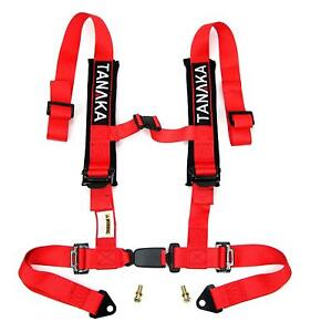 Phantom Series 4 Point Buckle Harness W Comfort Heavy Duty Shoulder Pads Red