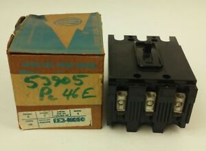 Ite Ee3 b050 Circuit Breaker 3p 50a 240vac 125 250v d c Missing Screws Nib