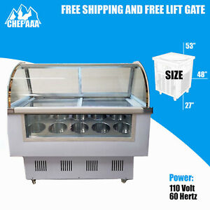 Gelato Freezer Display Case 1 4rdq