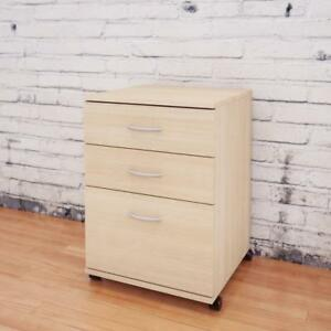 Essentials 3 drawer Mobile Filing Cabinet From Nexera Natural Maple