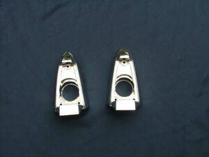 1954 Packard Senior Back up Light Bezels Pair Re chromed Nice Lamp