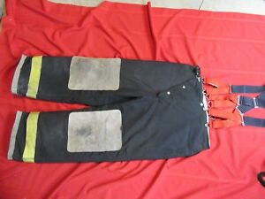 Globe Firefighter Bunker Turnout Pants 38 X 30 Thermal Liner Halloween Costume