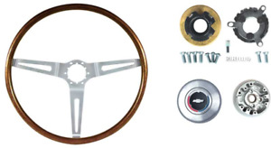 Oer R6532 Walnut Steering Wheel Kit 1967 1968 Chevrolet Camaro Nova Impala
