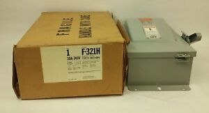 Ite F 321h Safety Switch Type 12 Enclosure 3p Fusible 30a 240vac 250dc Nib