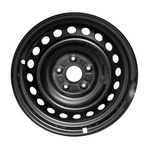 75168 New Compatible Black Steel 16x7 Wheel Fits 2015 17 Toyota Camry